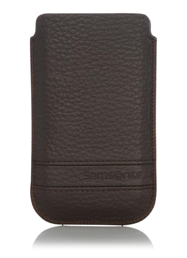 Samsonite Iphone 4 beschermhoes van generfd leer