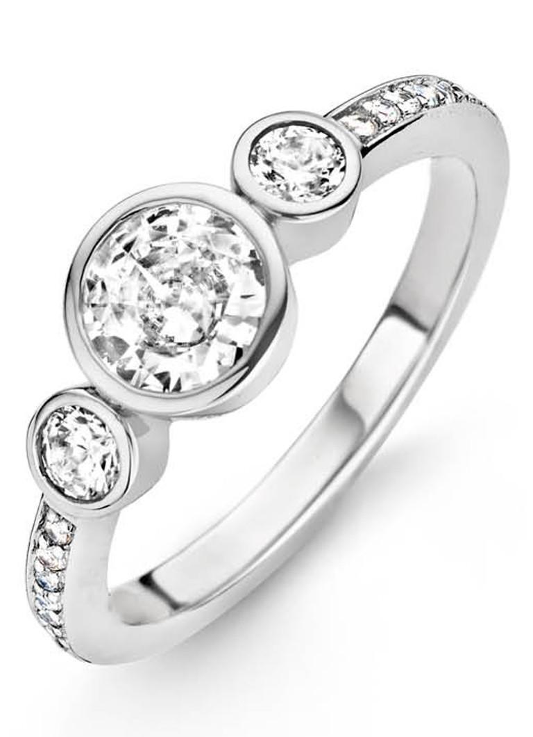Ti Sento Milano 12028ZI Ring - Ring met stenen - Zilver witgoudverguld