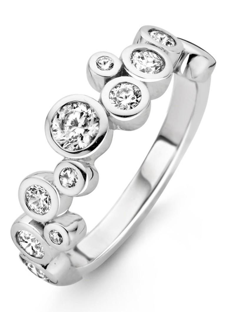 Ti Sento Milano Ring van gerhodineerd sterling zilver 12051ZI