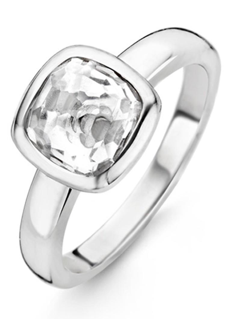 Ti Sento Milano Ring van gerhodineerd sterling zilver 12063ZI