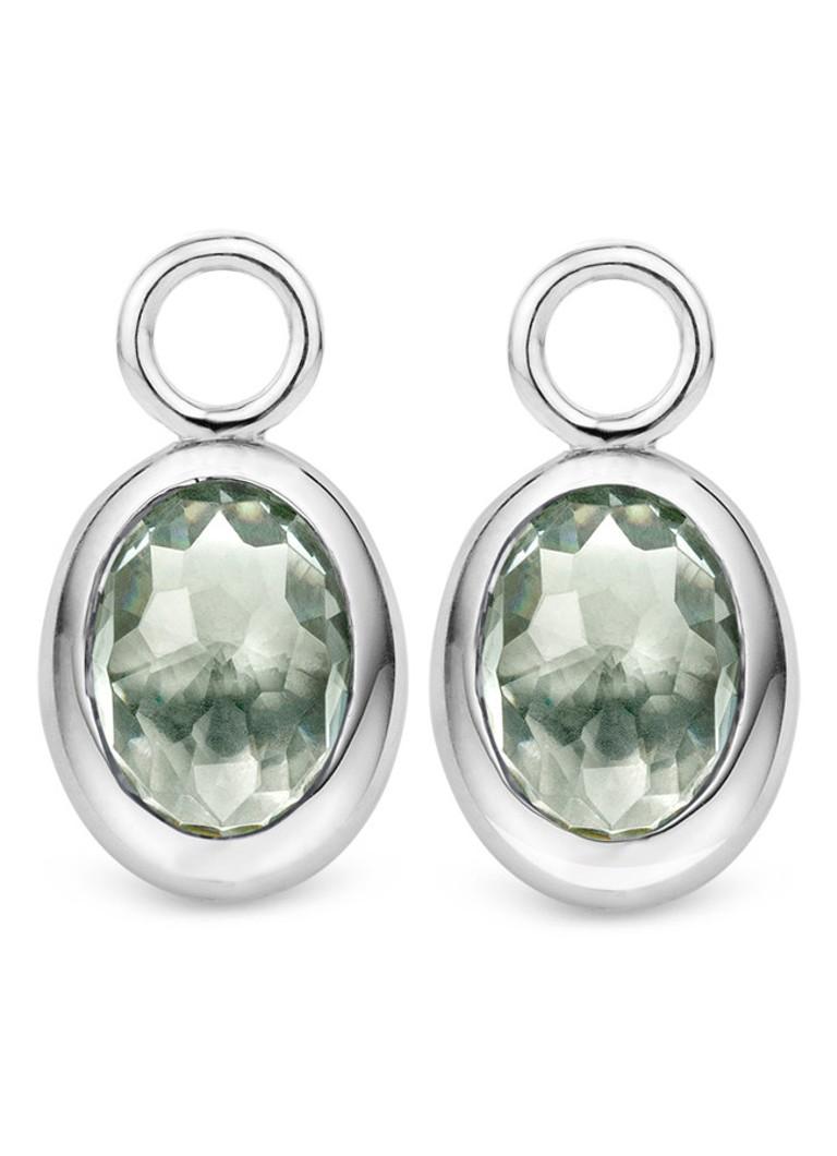 Ti Sento Milano Oorbedels van gerhodineerd sterling zilver