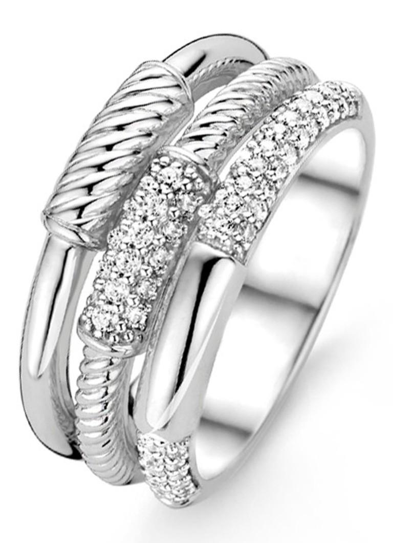 Ti Sento Milano Ring van gerhodineerd sterling zilver
