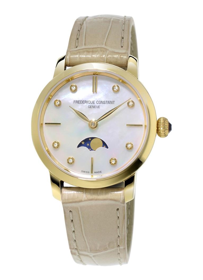 Frederique Constant Horloge Slimline Moonphase Ladies FC-206MPWD1S5