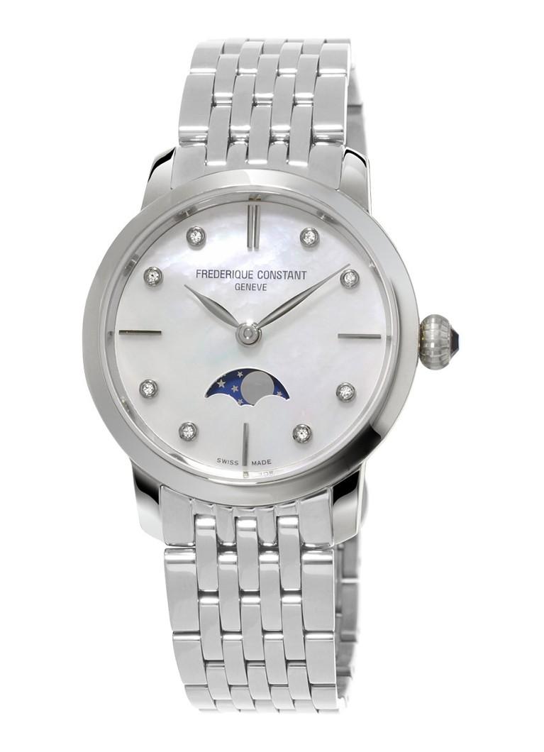 Frederique Constant Horloge Slimline Moonphase Ladies FC-206MPWD1S6B