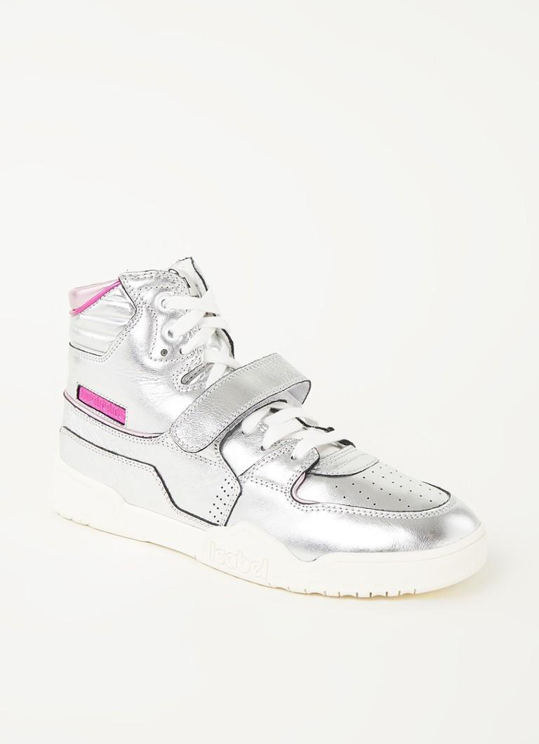 Alsee sneaker van leer met metallic finish