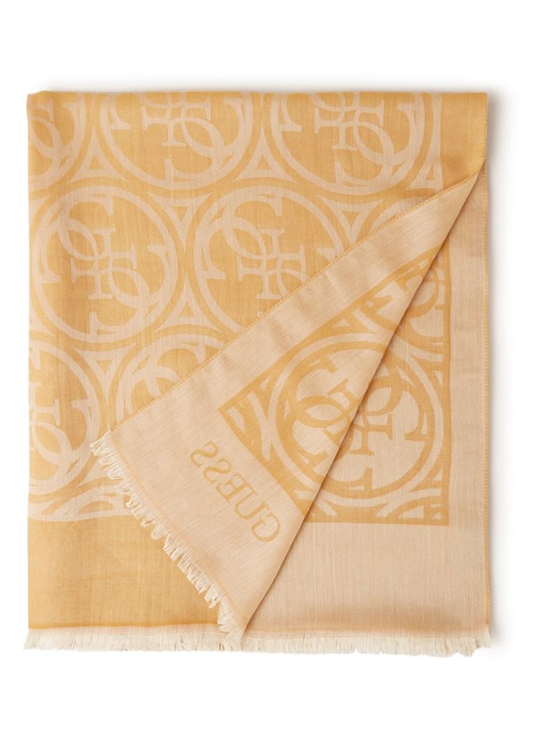 GUESS Heritage Pop sjaal met dessin 180 x 80 cm