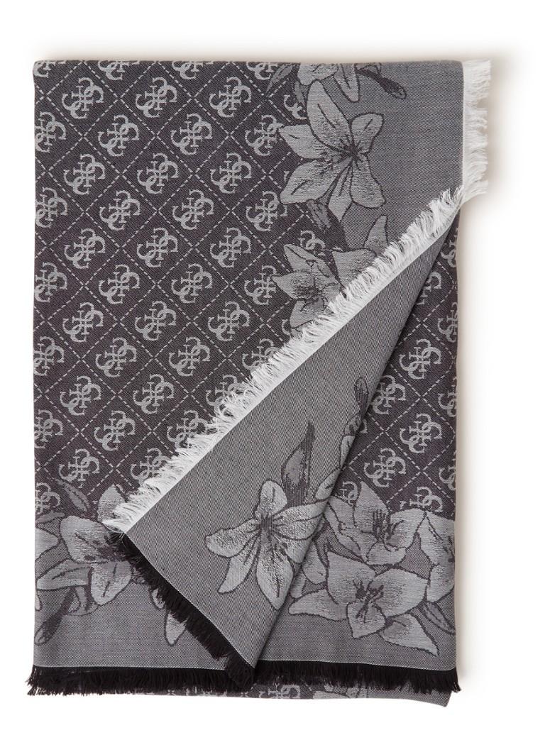 GUESS Not Coördinated sjaal met dessin 145 x 145 cm
