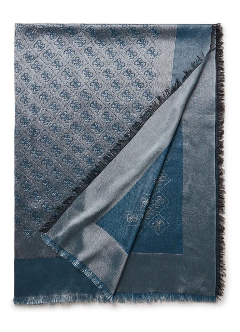 GUESS Kefiah sjaal met logodessin 145 x 145 cm