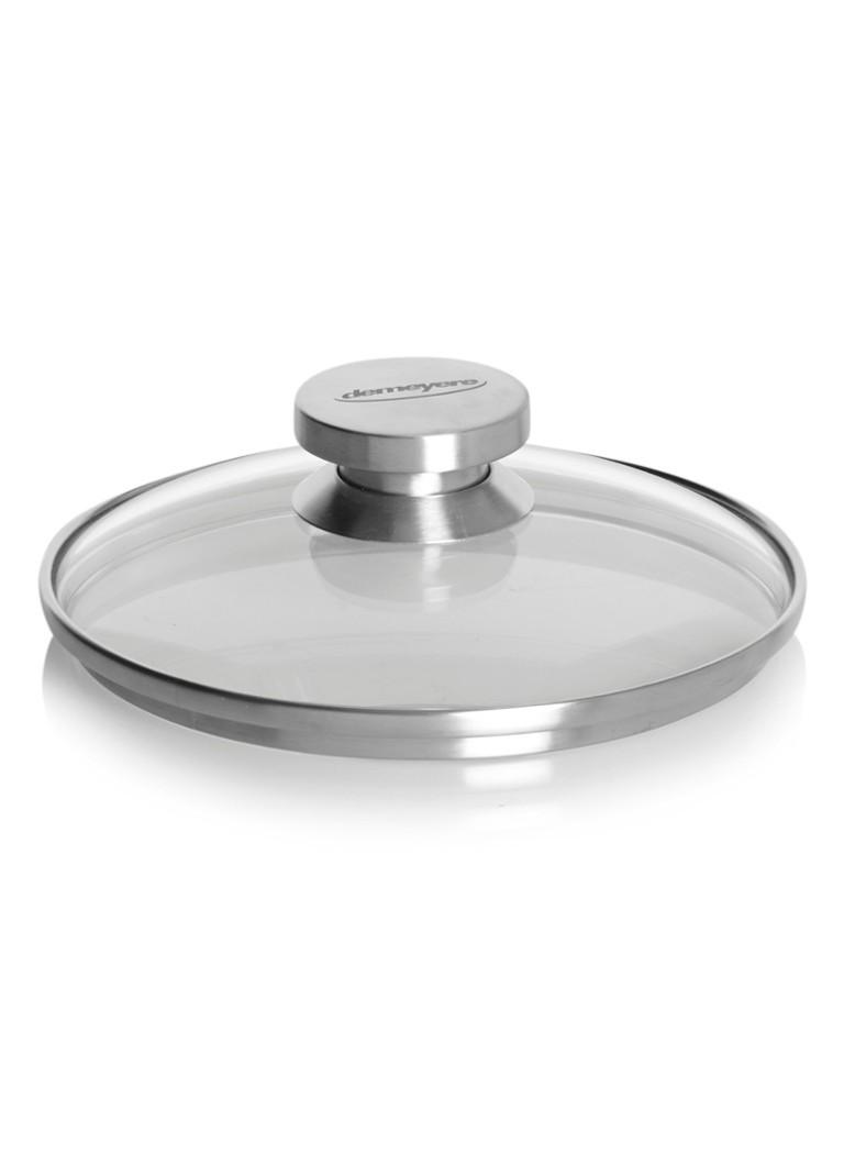 Demeyere Deksel glas 18 cm met rvs rand