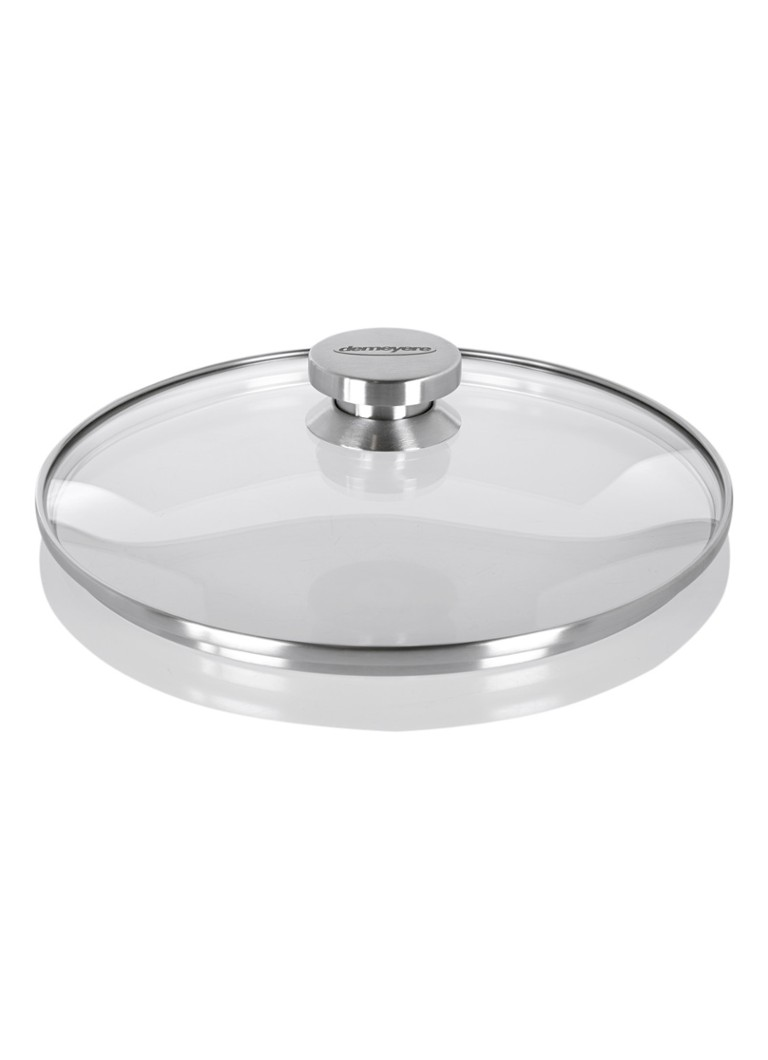 Demeyere Deksel glas 26 cm met rvs rand