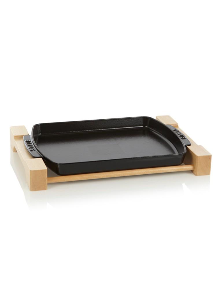 Staub Ovenschaaltje met onderzetter 33 cm - zwart