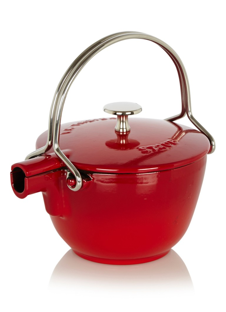Staub Ronde theepot - kersenrood