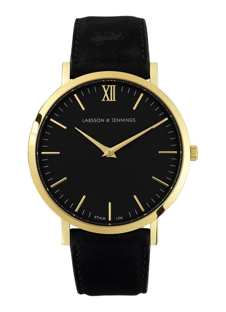 Larsson & Jennings Horloge Läder Black L