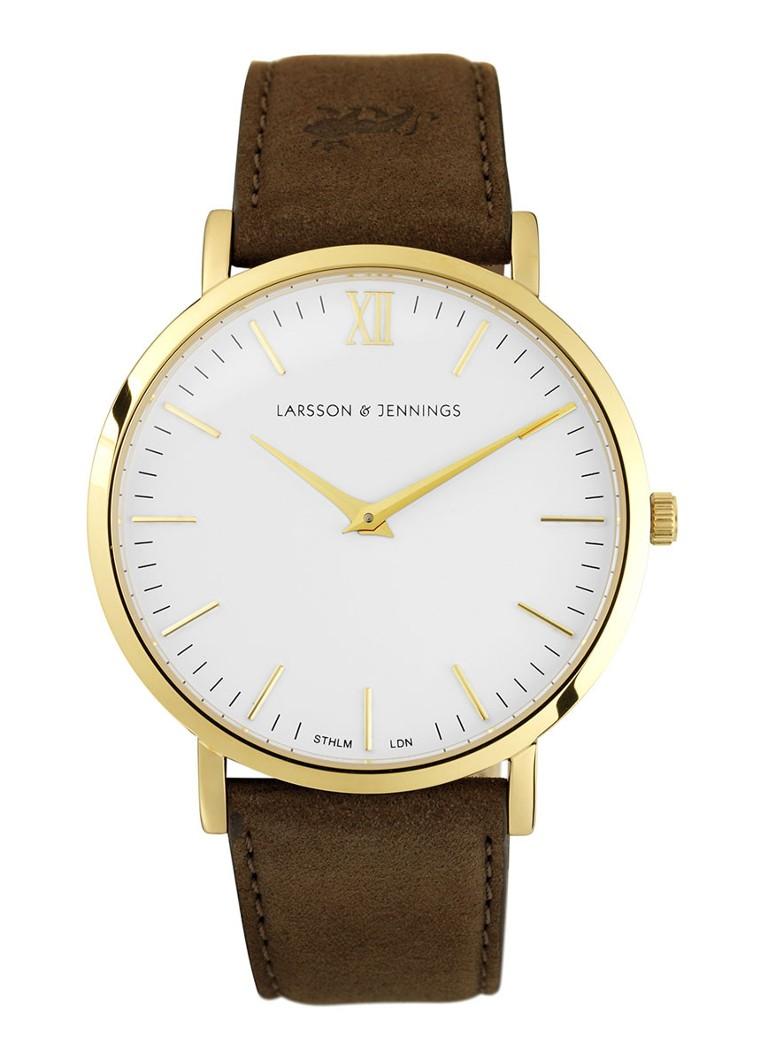 Larsson & Jennings Unisex horloge Läder Brown