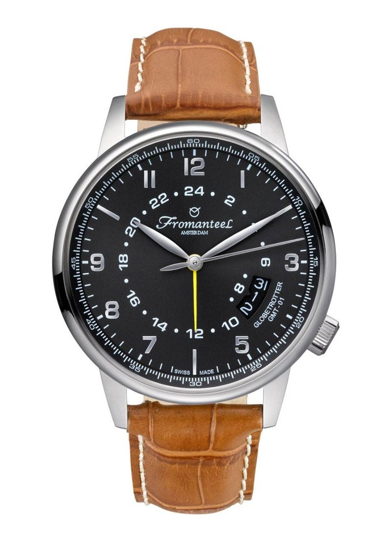 Fromanteel Horloge Globetrotter GMT GT-0602-010