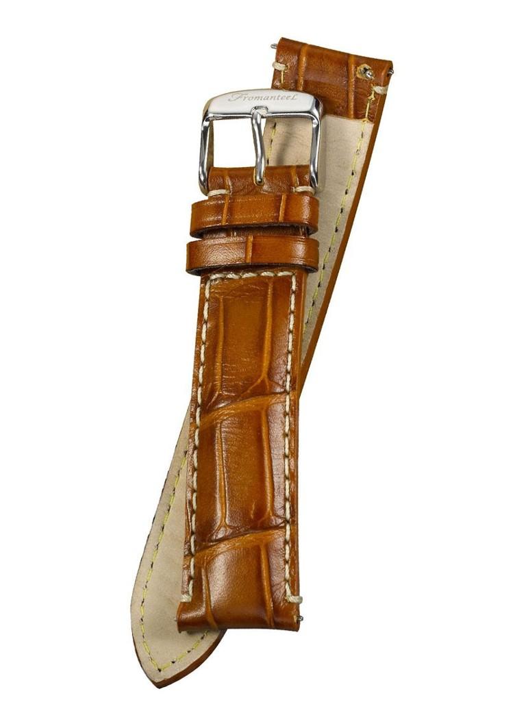 Fromanteel Horlogeband Calf Leather Cognac Croco S-003 XL