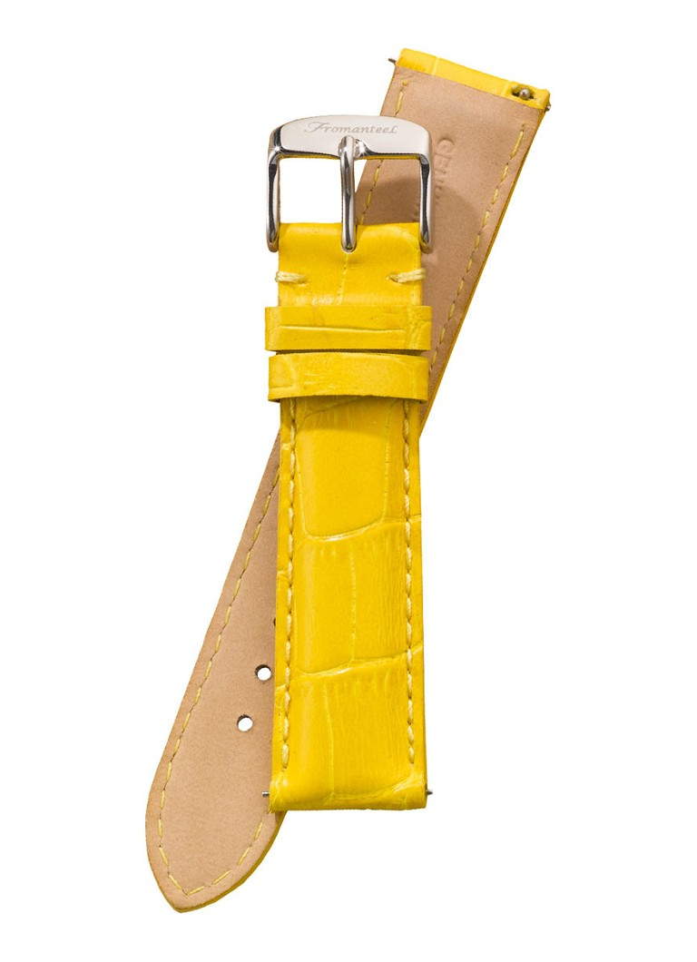Fromanteel Horlogeband Calf Leather Yellow Croco S-007