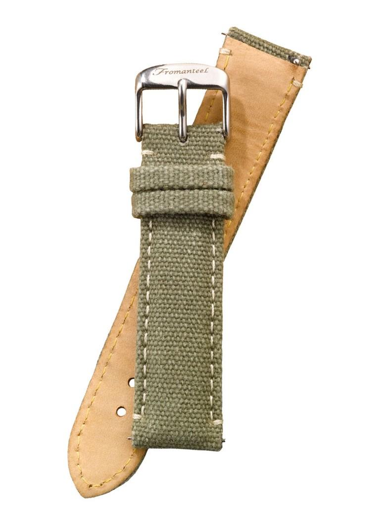 Fromanteel Horlogeband Canvas Leather Green S-016