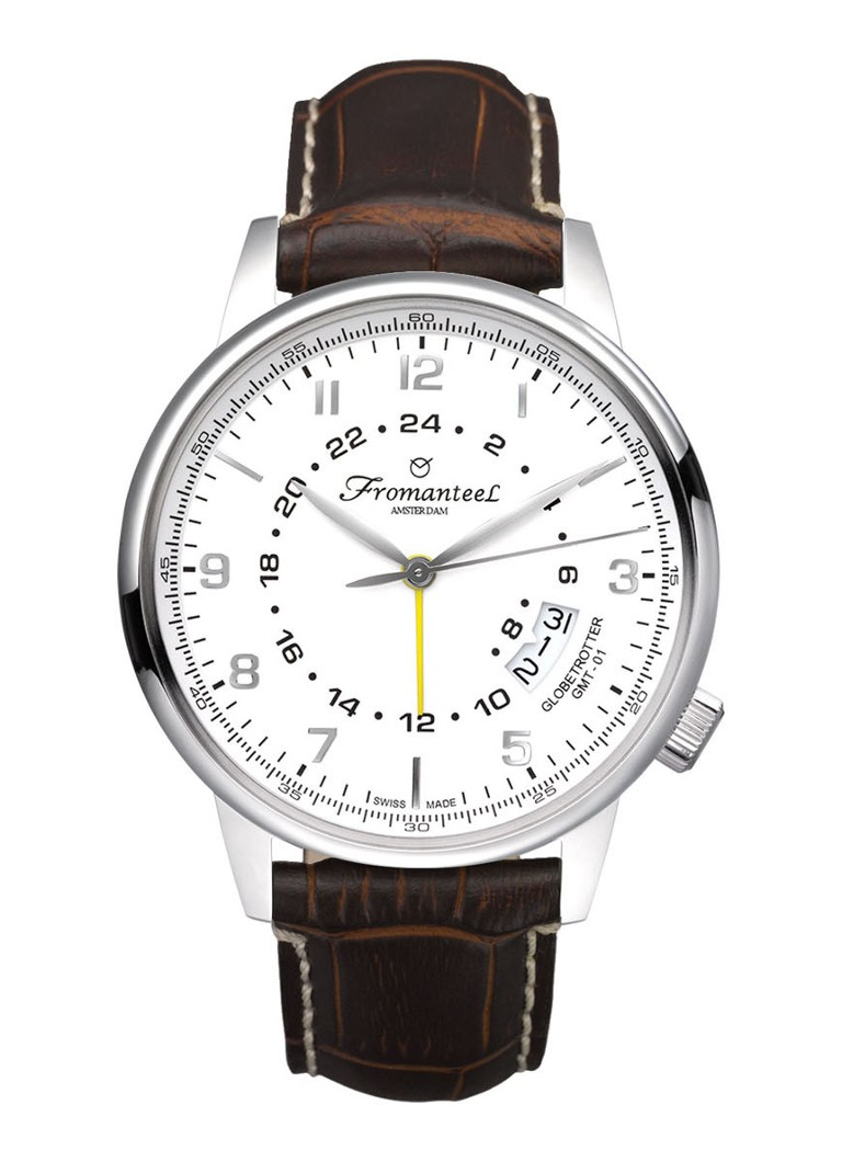 Fromanteel Horloge Globetrotter GMT White GT-0601-009
