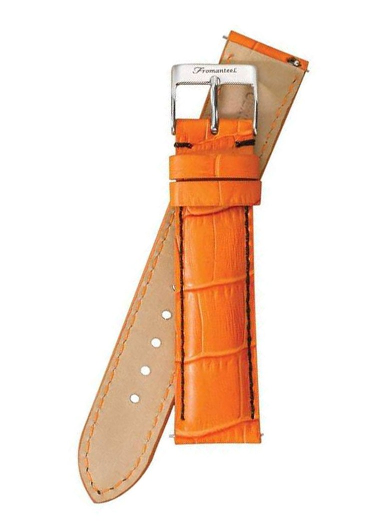 Fromanteel Horlogeband Calf Leather Orange Croco S-008