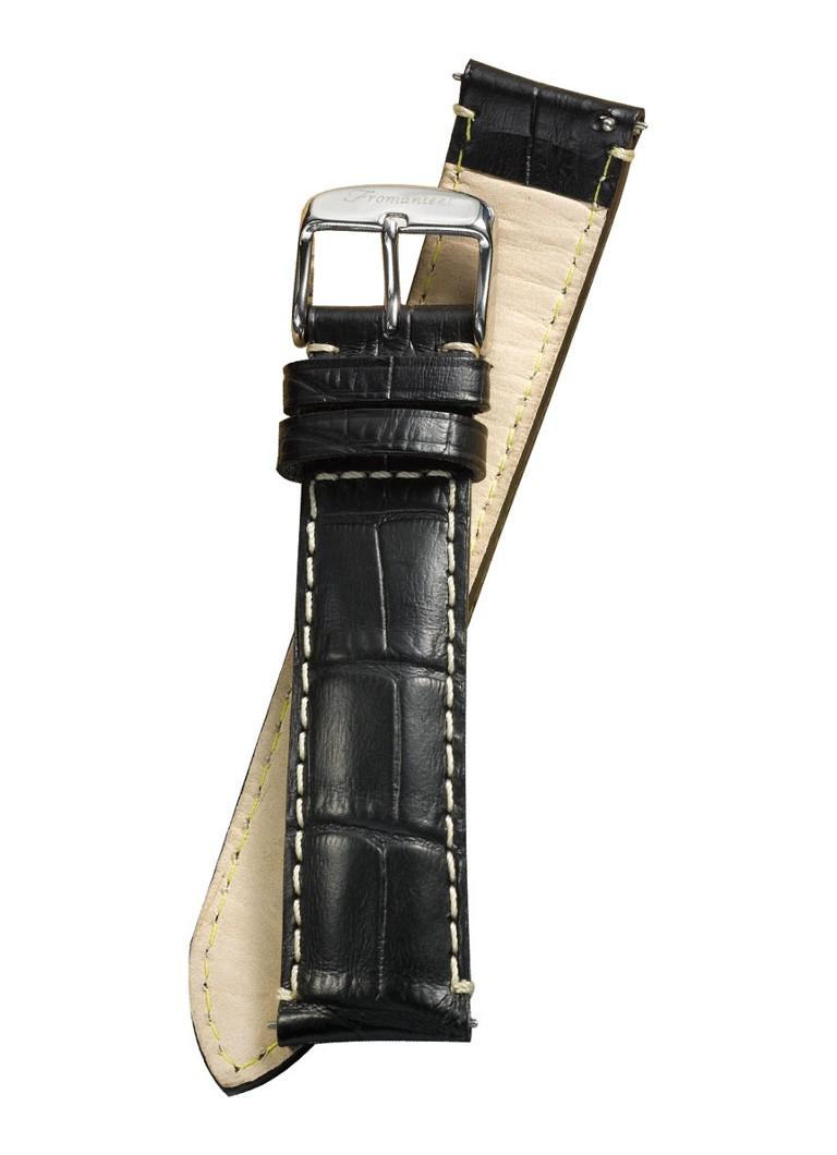 Fromanteel Horlogeband Calf Leather Black Croco S-001