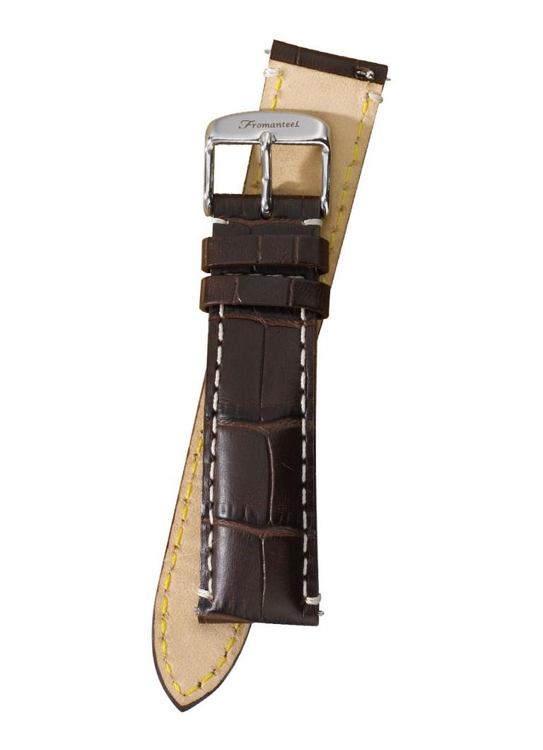 Fromanteel Horlogeband Calf Leather Dark Brown Croco S-009