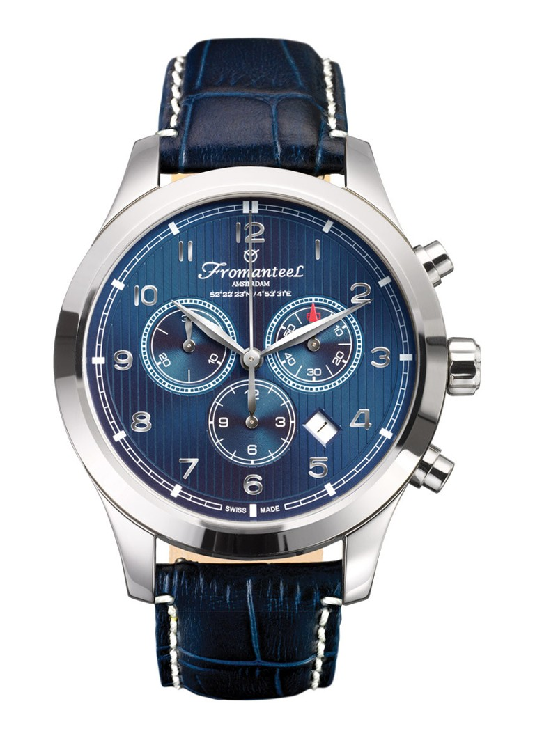 Fromanteel Horloge Amsterdam Chrono Nautique Blue A-0243-011