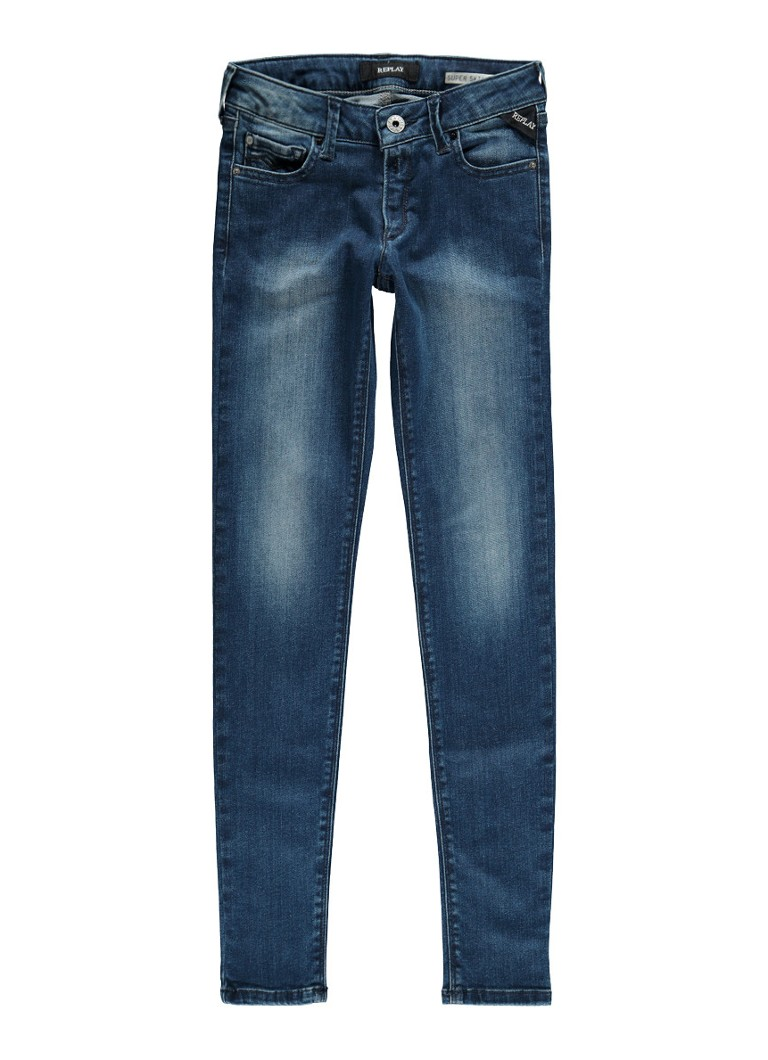 Replay and Sons Super skinny fit jeans met medium wassing