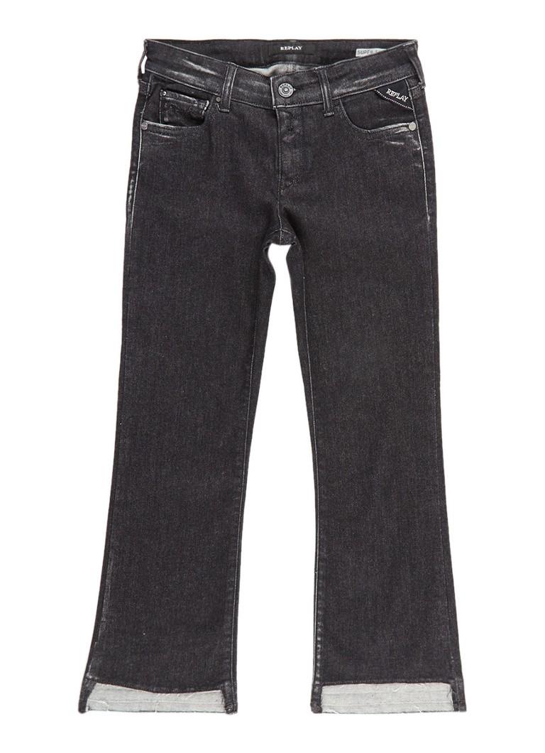 Replay and Sons Skinny fit jeans met gerafelde zoom
