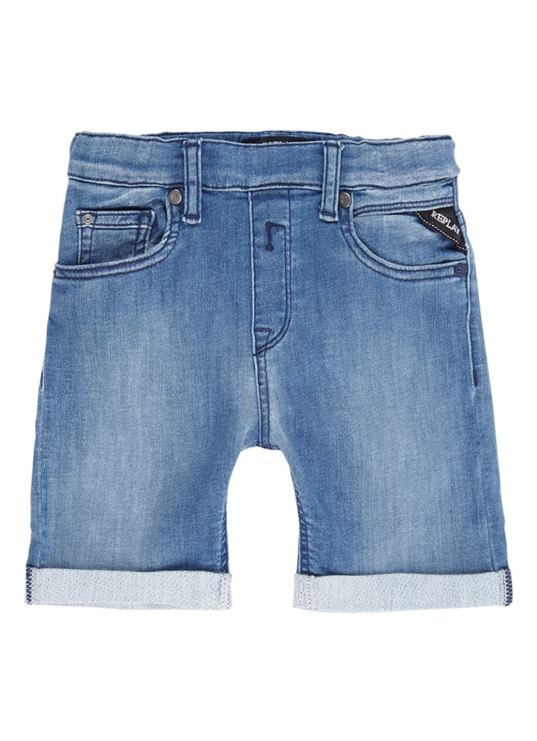 Replay and Sons Joggjeans shorts met omgeslagen zoom