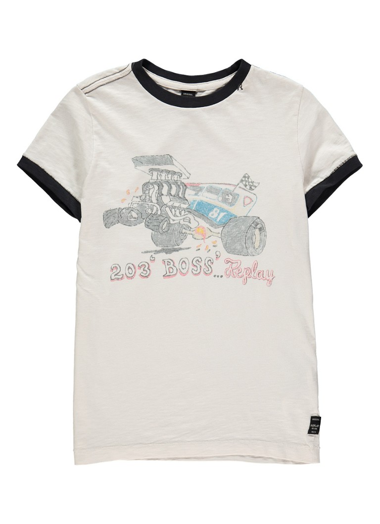 Replay and Sons T-shirt met print van katoen