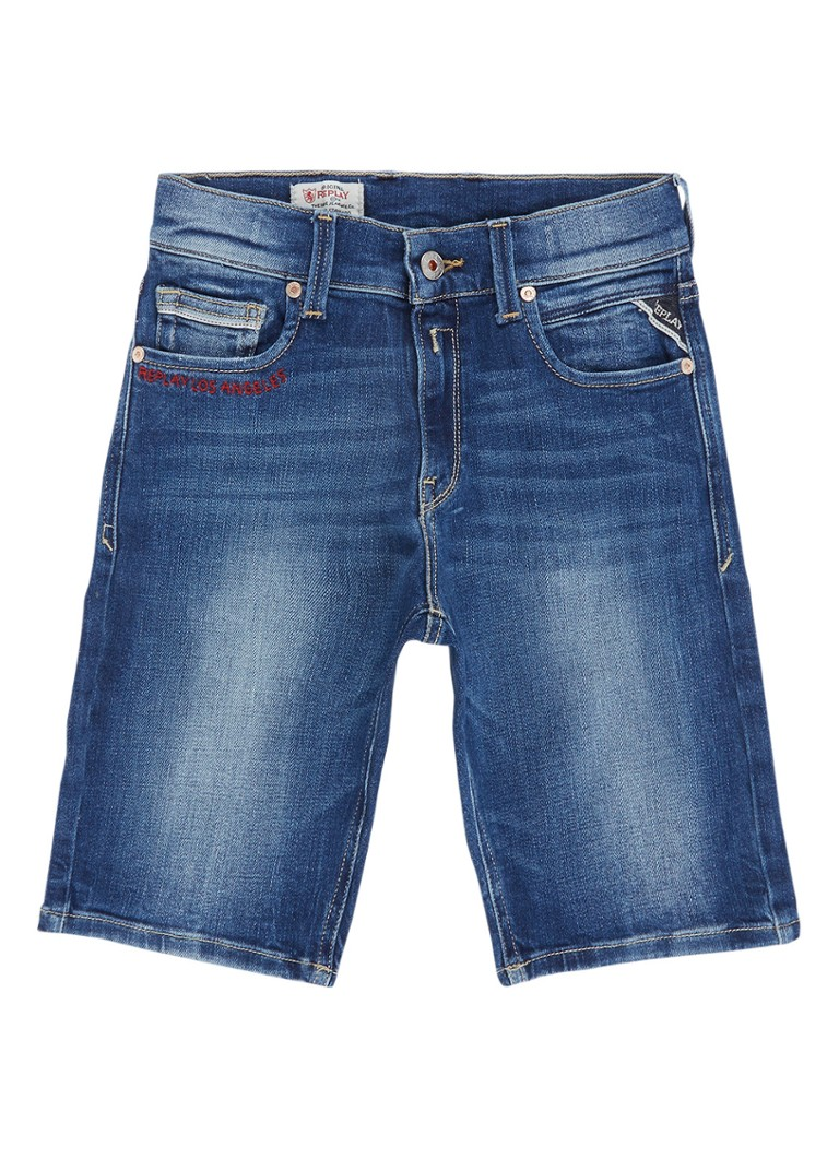 Replay and Sons Denim shorts met medium wassing