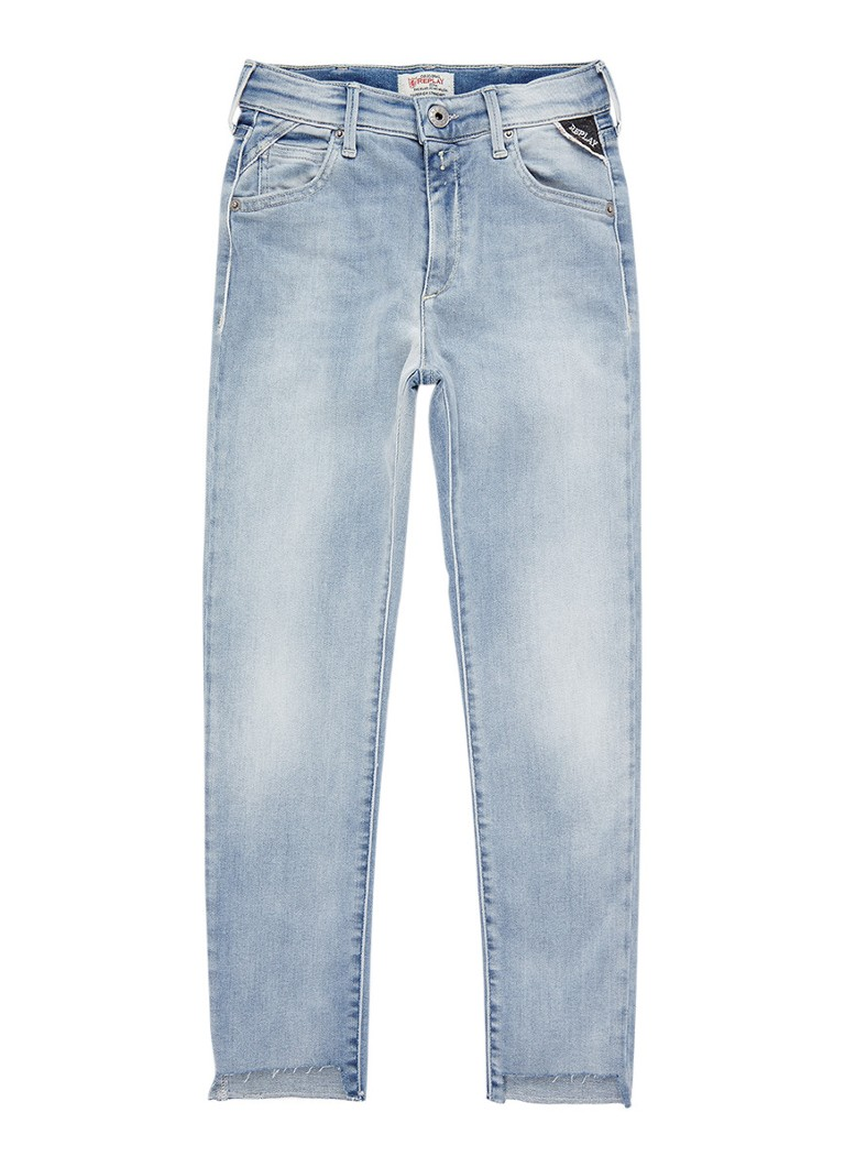 Replay and Sons High rise skinny fit jeans met stretch