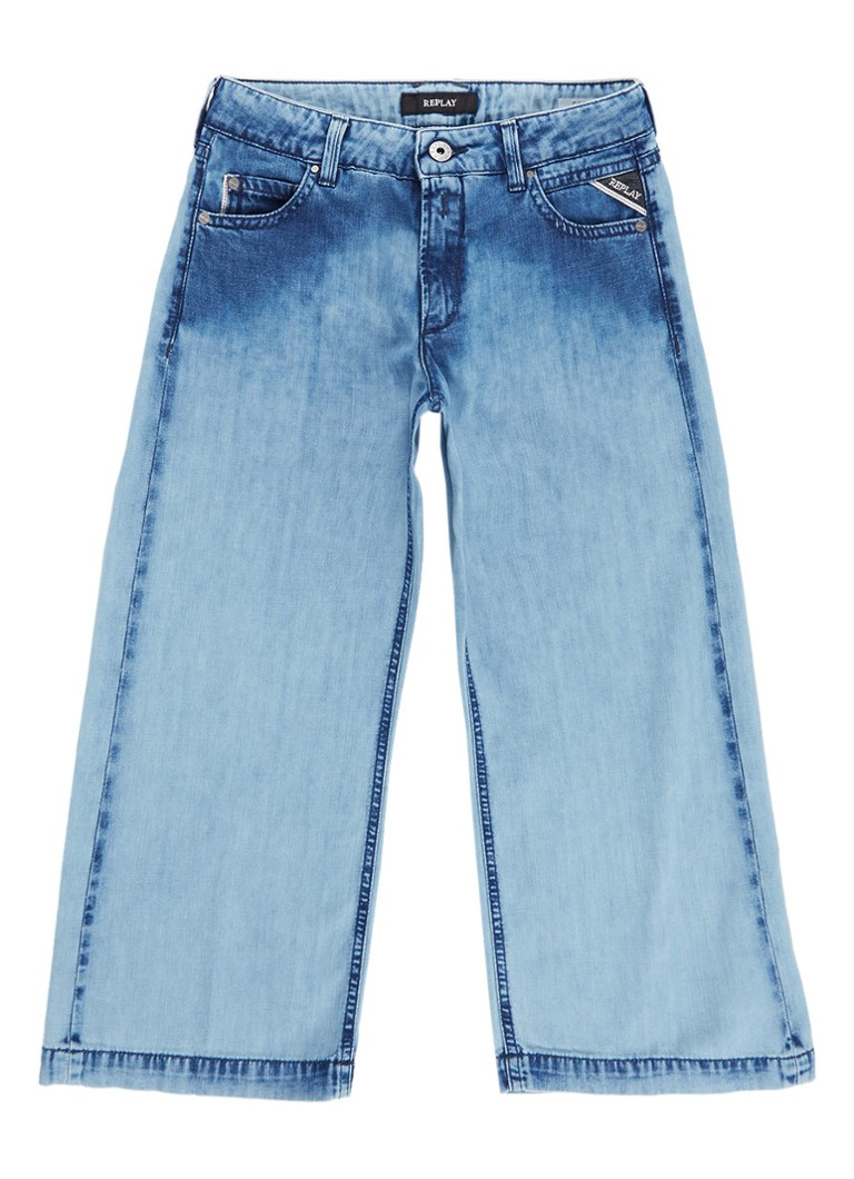 Replay and Sons Loose fit jeans met faded look