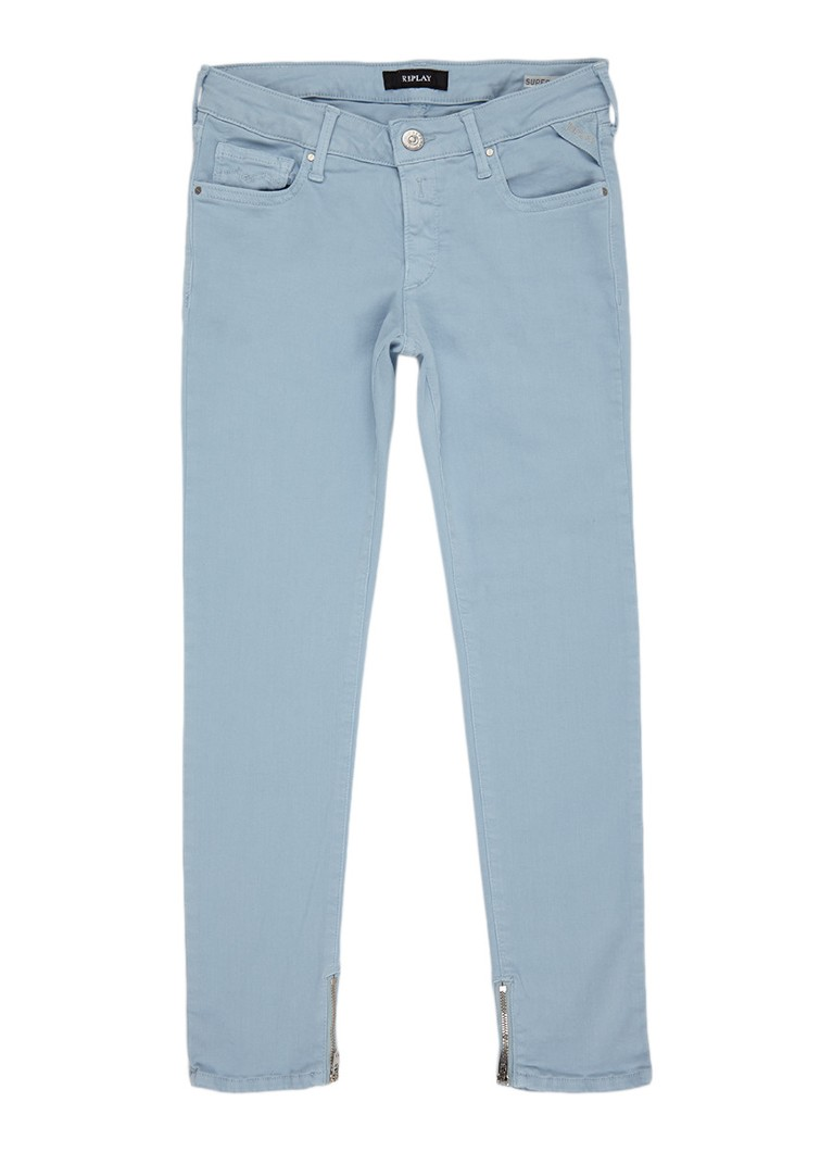 Replay and Sons Super skinny fit jeans met ritsen