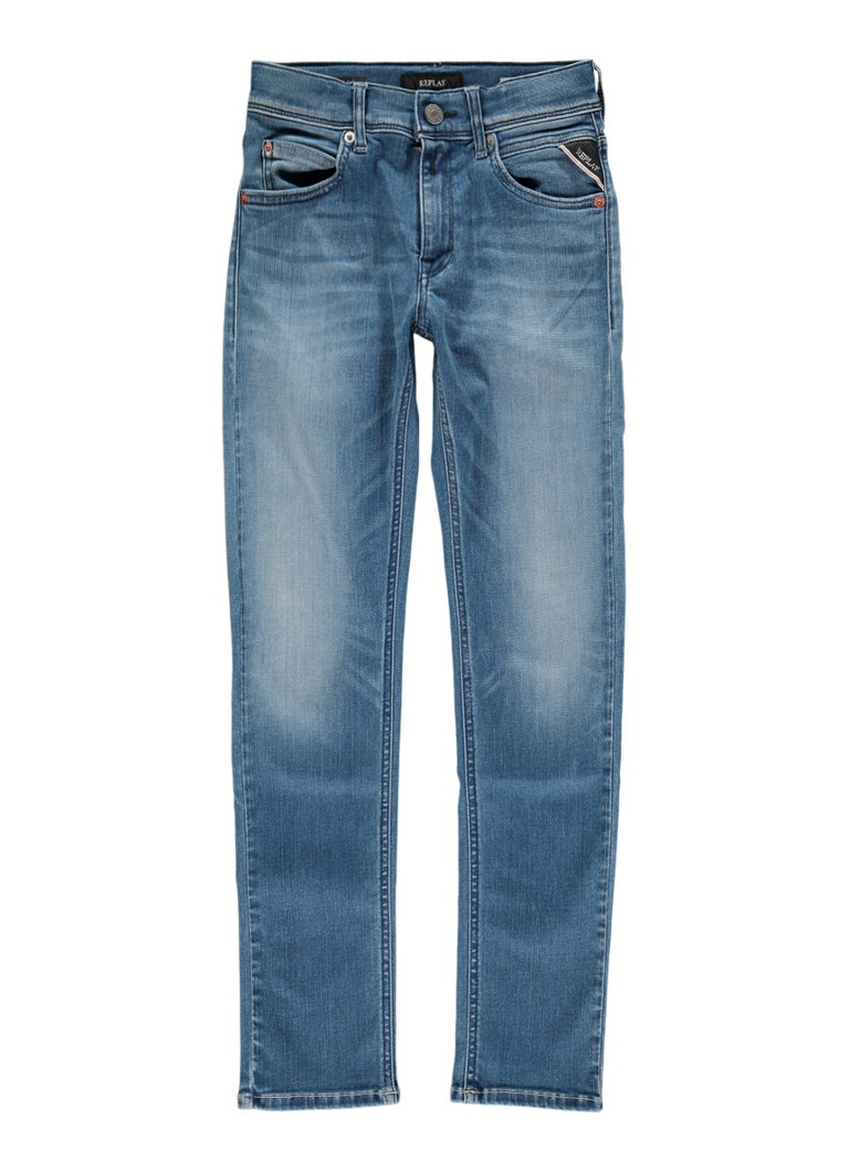 Replay and Sons Super slim fit jeans met faded look