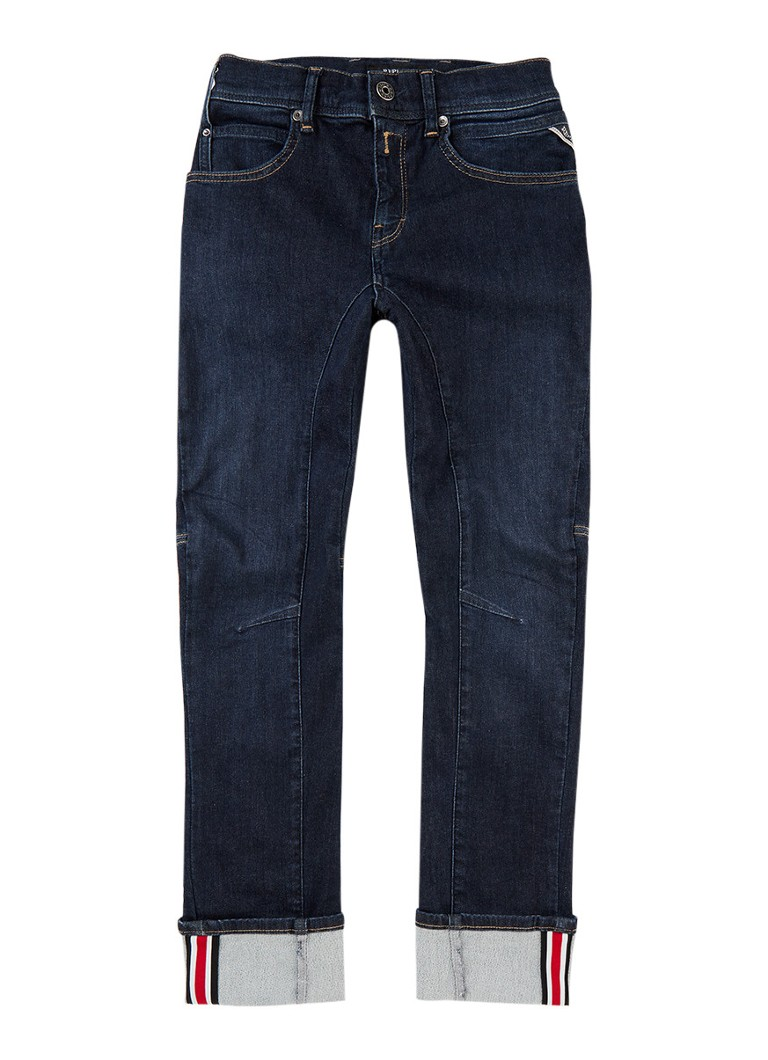 Replay and Sons Slim fit jeans in donkere wassing
