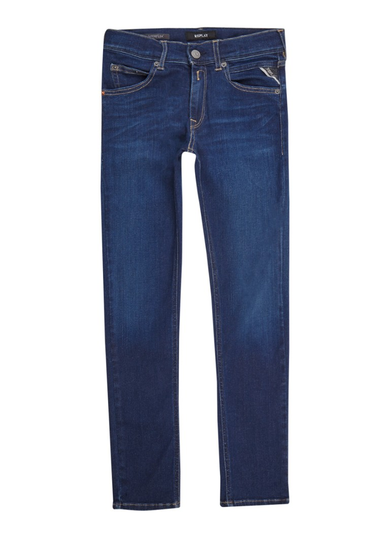 Replay and Sons Hyperflex super slim fit jeans in donkere wassing