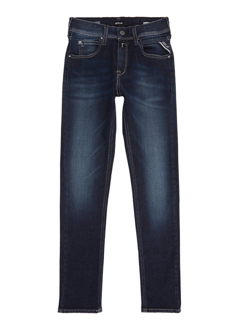 Replay and Sons Hyperflex super slim fit jeans met faded look