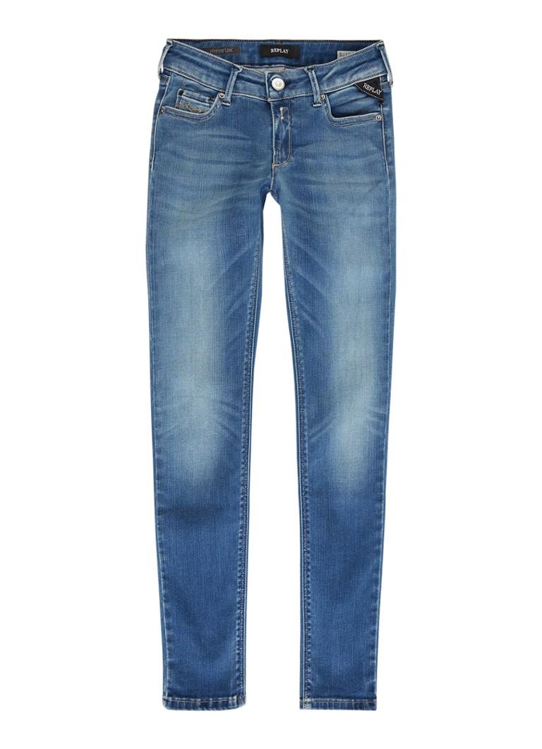 Replay and Sons Hyperflex super skinny fit jeans met verwassen look