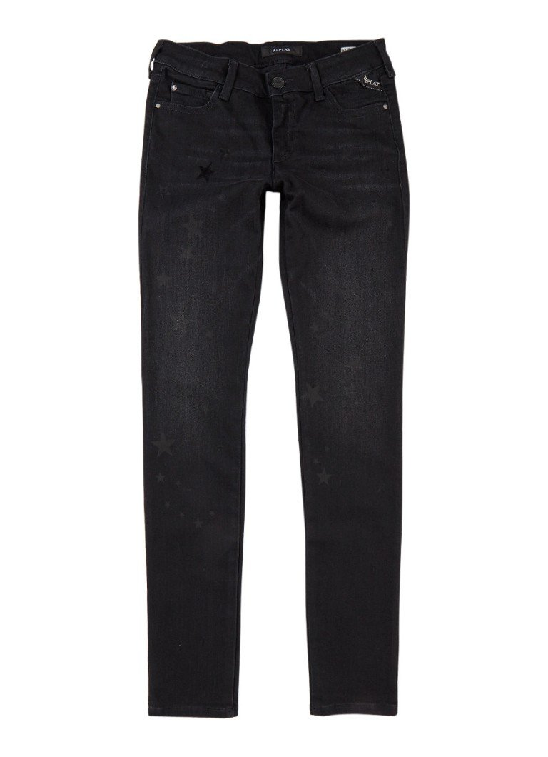 Replay and Sons Super skinny fit jeans met sterrenprint