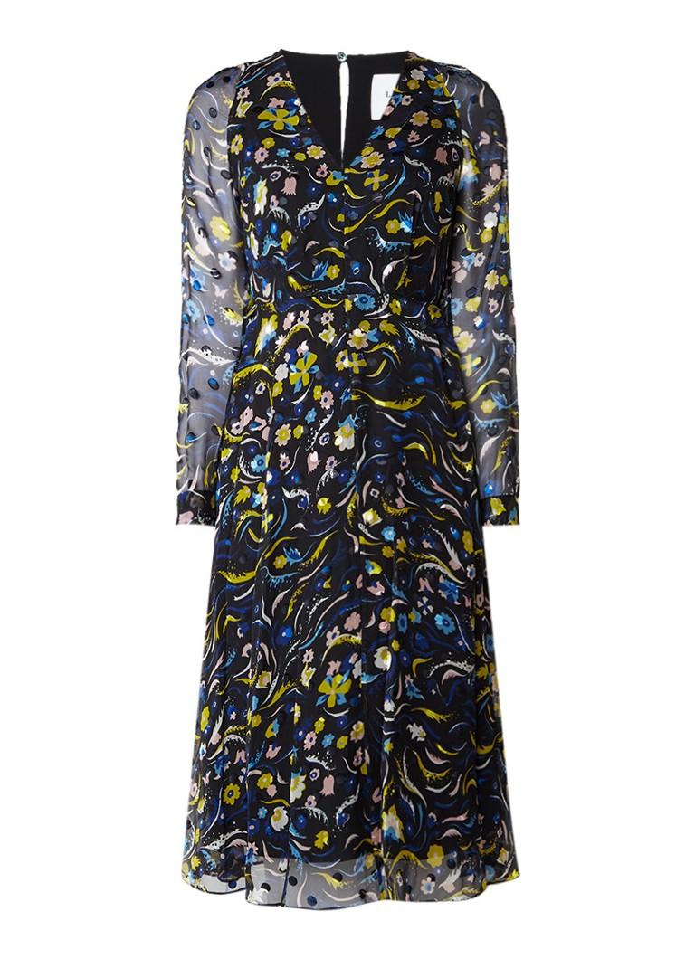 L K Bennett Ally A-lijn jurk met dessin