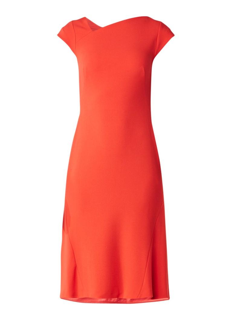 L K  Bennett Ire A-lijn jurk met asymmetrische halslijn