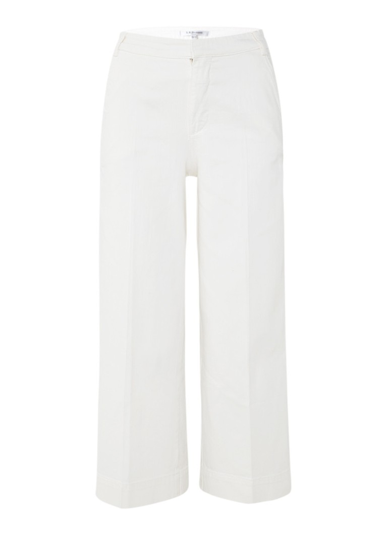 L K  Bennett Alexis high rise wide fit cropped jeans