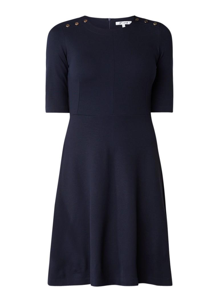 L.K.Bennett Casey A-lijn jurk met knoopdetails donkerblauw