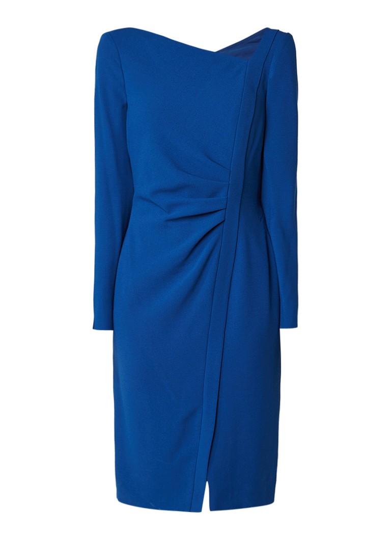 L.K.Bennett Angela jurk van crêpe met draperie detail kobaltblauw