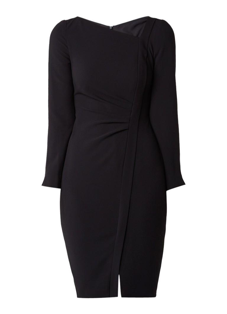 L.K.Bennett Angela jurk van crêpe met plooidetail en split zwart