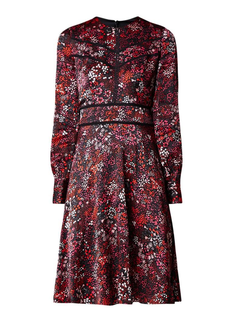 L.K.Bennett Robyn A-lijn jurk met bloemendessin zwart