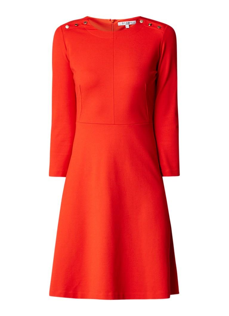 L.K.Bennett A-lijn jurk met knoopdetail oranje