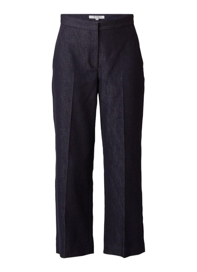 L K Bennett Reene cropped high rise wide fit jeans